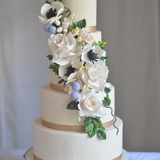 Floral Radiance - Cake by Rebekah Naomi Cake Design