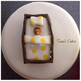 Baby & Cot Christening Cake - Cake by Tomi