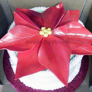 Poinsetta - Cake by Sweets By Monica