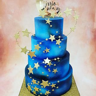 Galaxy wedding cake