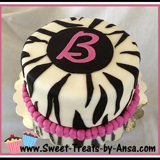 Zebra Fondant WASC cake