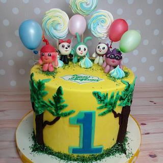 Smeshariki Cake