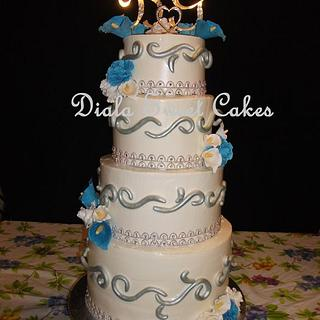 Wedding cake  - Cake by DialaSweetCakes