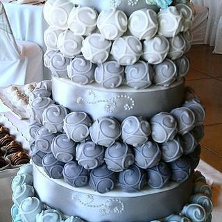 Cake Bite Wedding Cake  - Cake by Yolanda Marshall