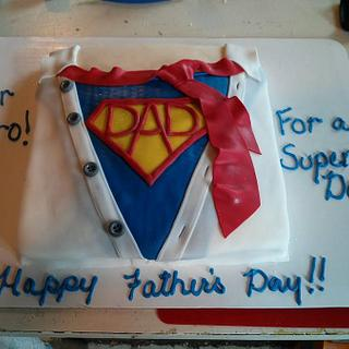 """Father's Day """"Super Dad"""" Cake"""