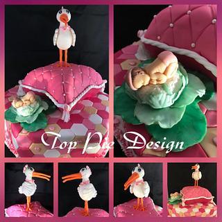 Babyshower taart  - Cake by Top Pie Design
