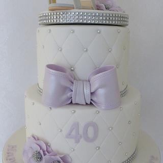 Jimmy Choo 40th Birthday Cake