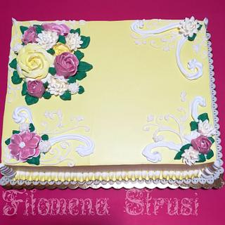Italian merengue buttercream flower
