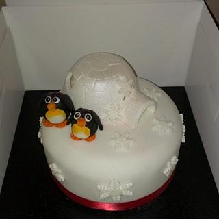 Light up xmas cake