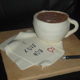 Coffee Cup Cake - Cake by Rebecca Kenny