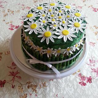 Daisy cake - Cake by Gabriela Angelova