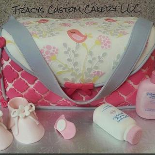Diaper Bag Cake - Cake by Tracy's Custom Cakery LLC