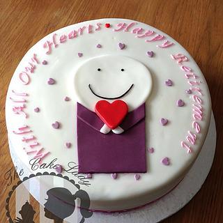 Doug Hyde inspired retirement cake