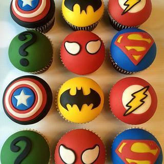 Superhero cupcakes - Cake by Louise Jackson Cake Design