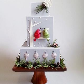 Holiday Wedding Birds - Cake Central Magazine Vol. 4- issue 12