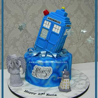 """""""Allons-y"""" - A Dr. Who Cake"""