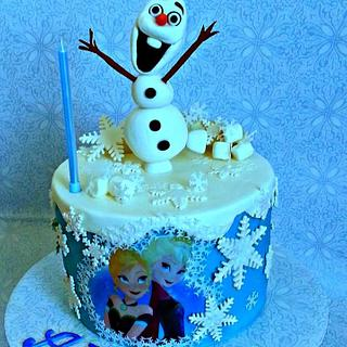 Olaf themed cake