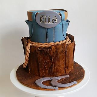 Rustic stable cake