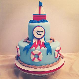 Nautical Baby Shower Cake - Cake by Becky Pendergraft