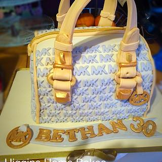 Michael Kors bag inspired cake   - Cake by Rhian -Higgins Home Bakes