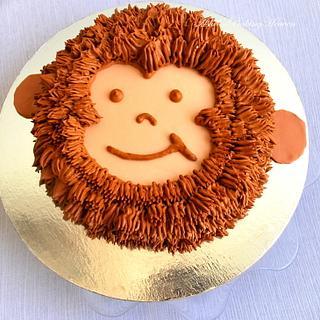 2D monkey face cake!!