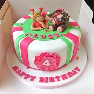 Girl and Pony Cake