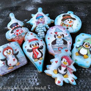Penguins and snowmans
