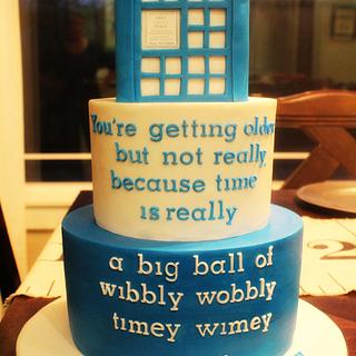 Doctor Who - Cake by Kendra
