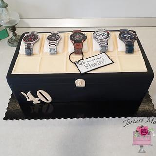 Watch collection cake. - Cake by Torturi Mary