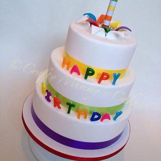 Party Cake - Cake by CraftyMummysCakes (Tracy-Anne)