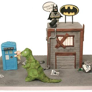 Dr Who meets Batman and Dinosaurs!