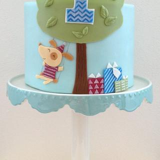 Baby boy's 1st birthday cake - Cake by Hana Rawlings