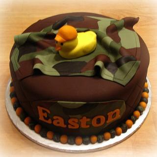 Camo Rubber Duckie Baby shower cake - Cake by Deborah
