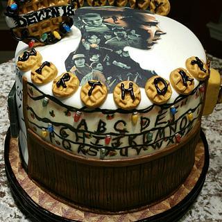 """Stranger Things"" birthday cake"