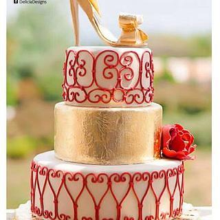 Valentino Fashion Inspired Cake - Cake by Delicia Designs