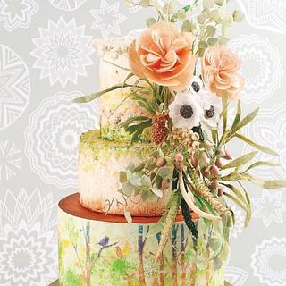 """""""A Summer Dream"""" wedding cake/Publication: Caketrendmagazine [TR]"""