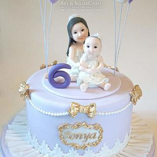 Sonya's 6 Birthday cake
