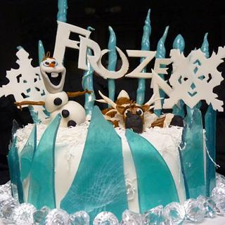 Frozen Sven and Olaf Cake