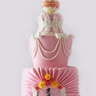 Rococo Baby Shower Cake - Cake by Ever After