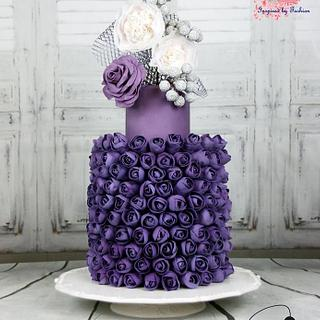 The 300 Purple Buds - Wedding Cakes Inspired By Fashion A Worldwide Collaboration - Cake by Artym