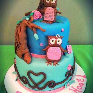 BABIES ARE A HOOT  - Cake by The Sweet Duchess