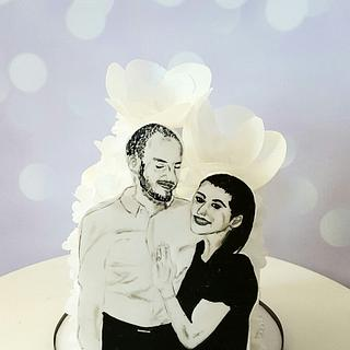 Hand painted portrait  - Cake by Piece O'Cake