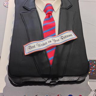 His Leather Jacket Retirement Cake