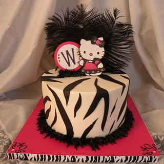 40th B-day Hello Kitty with Zebra stripes