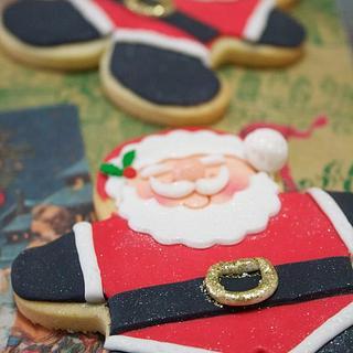 Snowman and Santa Cookies