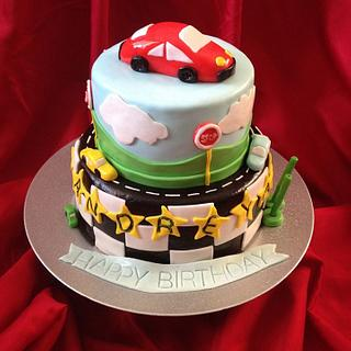 Racing  track - Cake by Cakes by Biliana