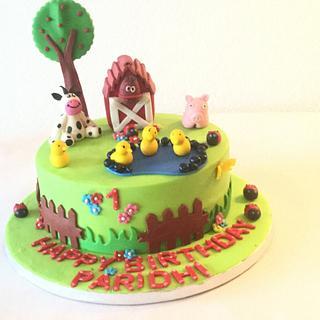 Farm theme cake - Cake by morningglorycakes