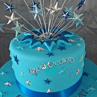 Star explosion cake