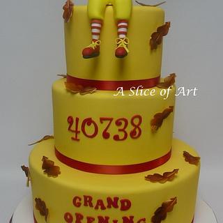 Ronald Mcdonald cake
