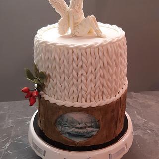 Double barrel christmas cake